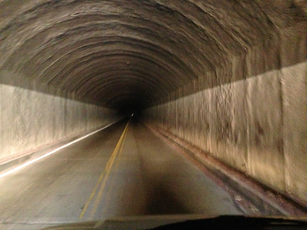 Inside the Zion tunnel