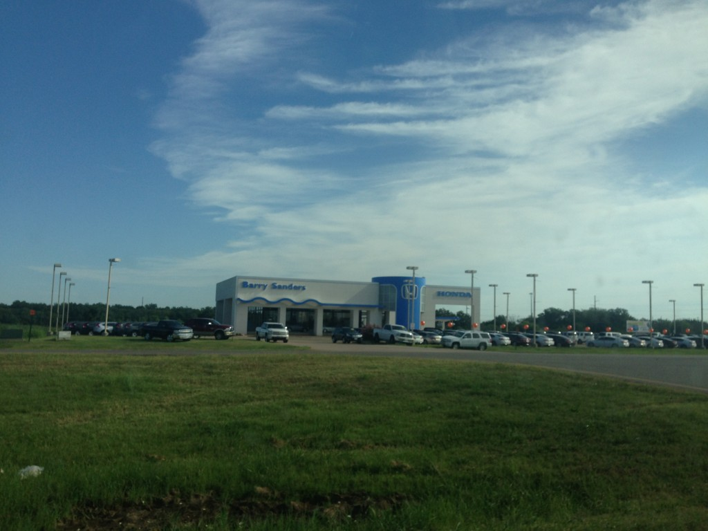 barry sanders car dealership